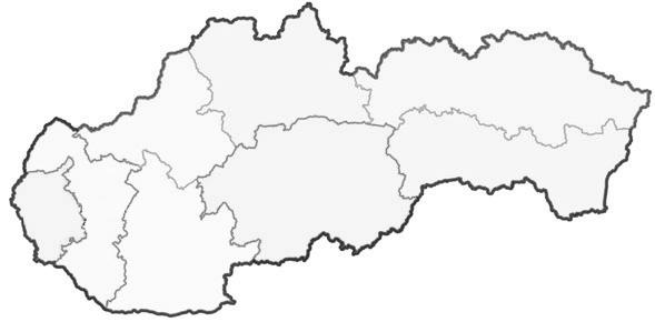 Mapa predajní na Slovensku